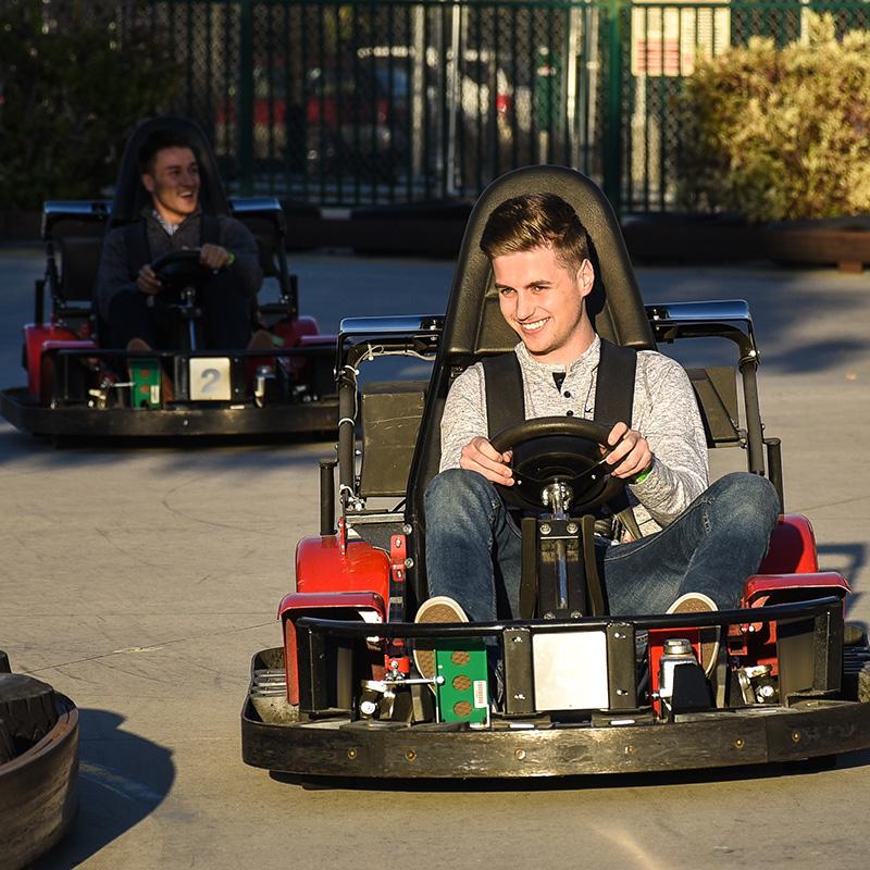 Boondocks - Teenage Boy Riding Go Karts