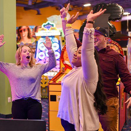 Boondocks - Arcade Game Winners Celebrating