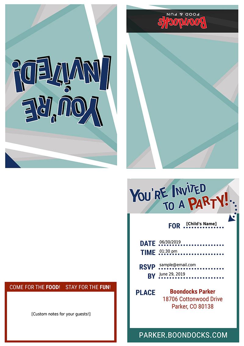 Boondocks - Parker Print Invite